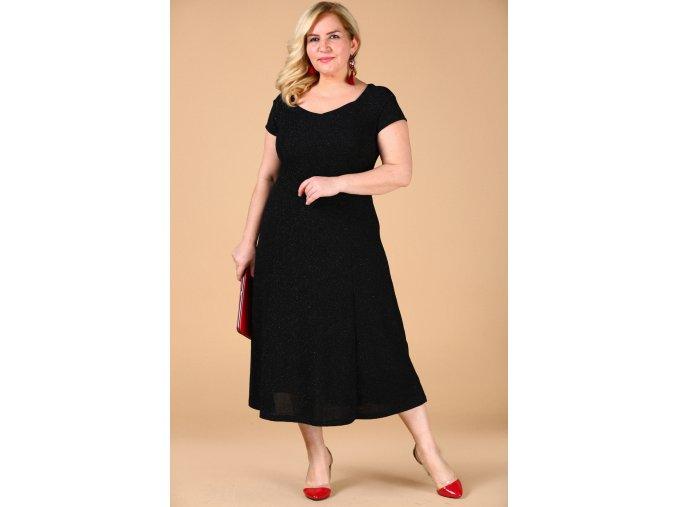 Společenské šaty pro plnoštíhlé Trinity černé