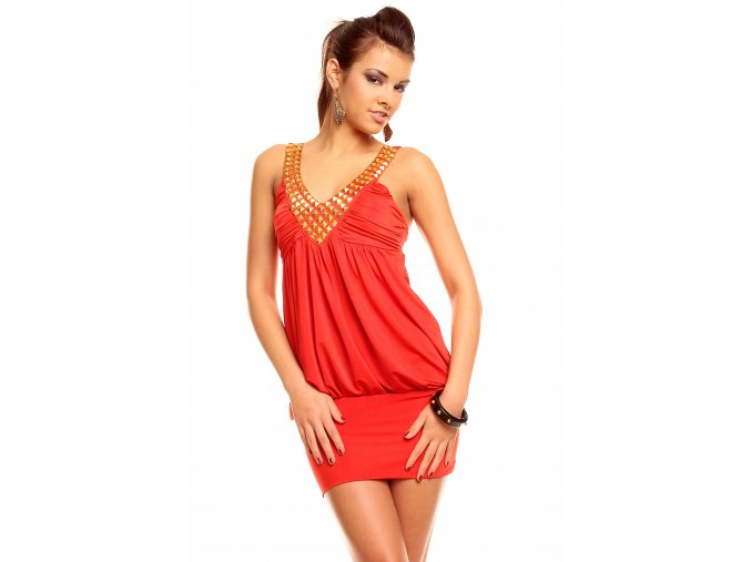 Společenské šaty Leila II červené