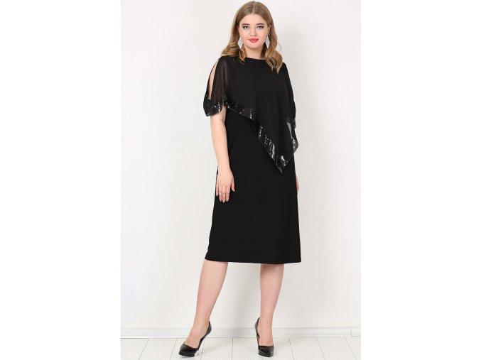 Společenské šaty pro plnoštíhlé Cassandra II černé