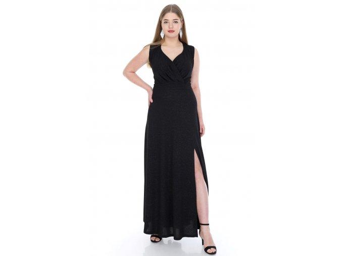Společenské šaty Alessandra II černé dlouhé