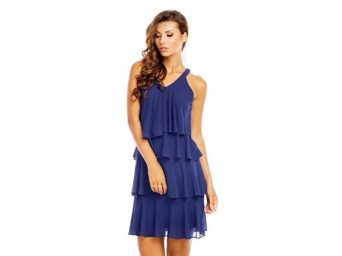 Společenské šaty Azalea tmavě modré detail