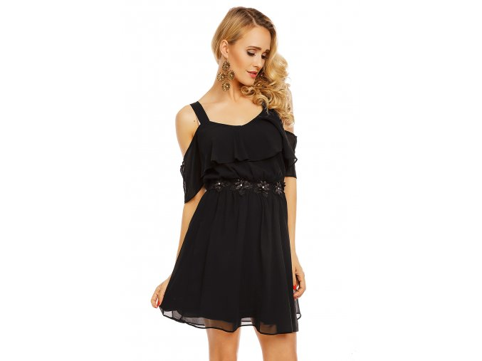 Společenské šaty Ulrika černé detail