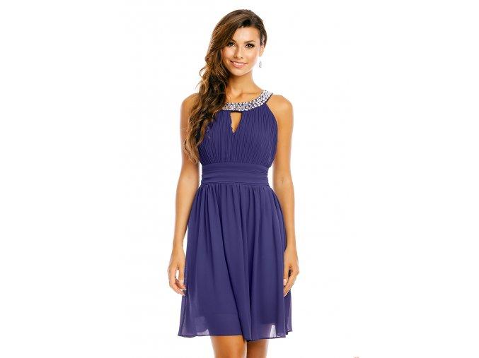 Společenské šaty Areanna tmavě modré detail