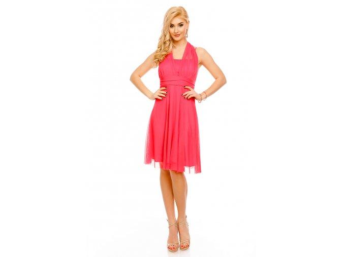Koktejlové šaty Paolina růžové