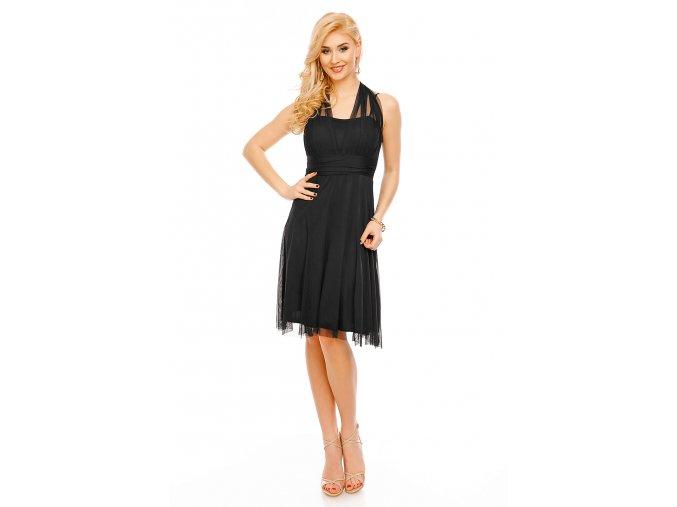 Koktejlové šaty Paolina černé