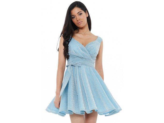 Luxusní společenské šaty Roxanna II světle modré