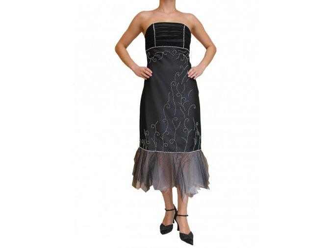 Dynasty luxusní společenské šaty Delois černé