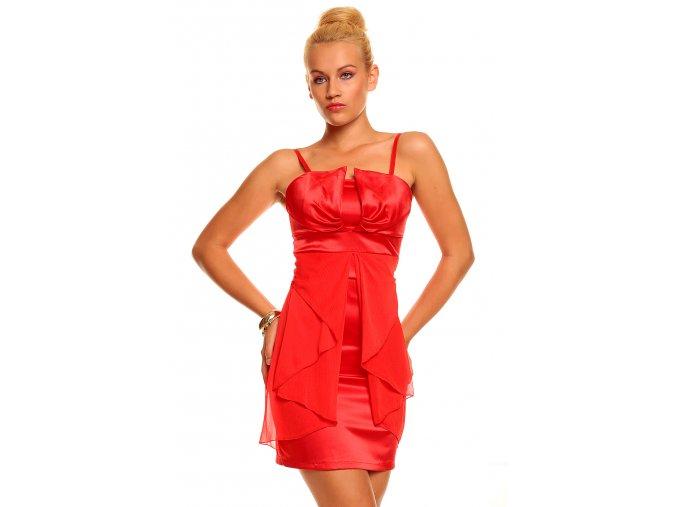 Společenské šaty Florence II červené