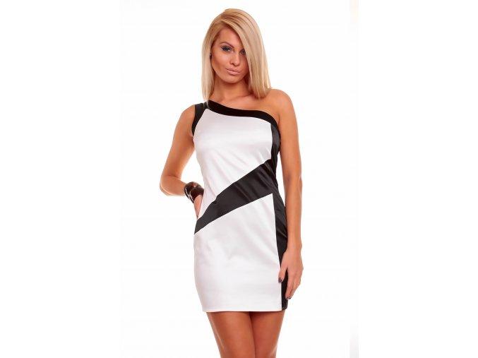Společenské šaty Lottie černo-bílé
