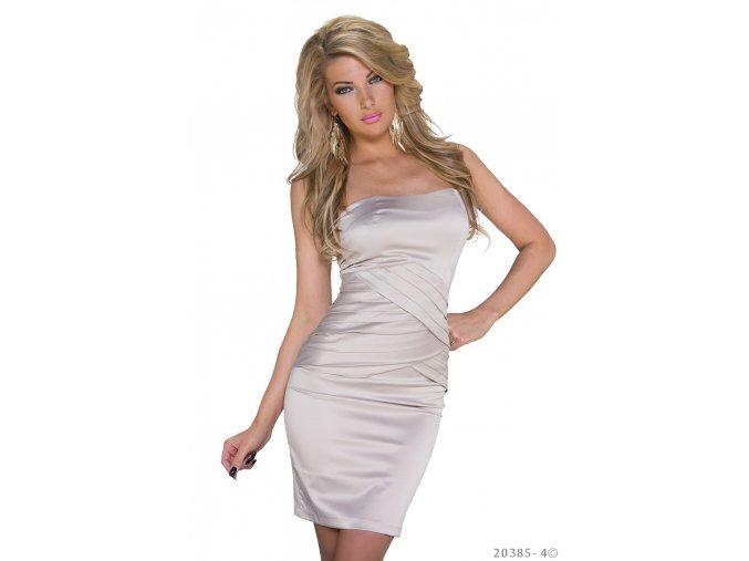 Společenské šaty Laura béžové