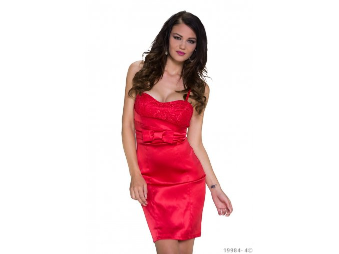 Koktejlové šaty Latoya červené
