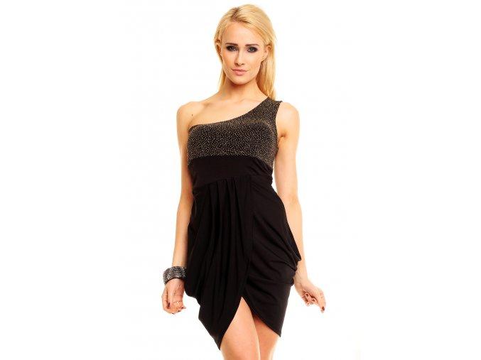 Společenské šaty Sierra zlato-černé