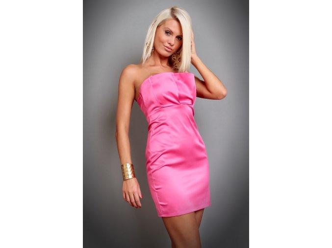 Společenské šaty Fiona růžové