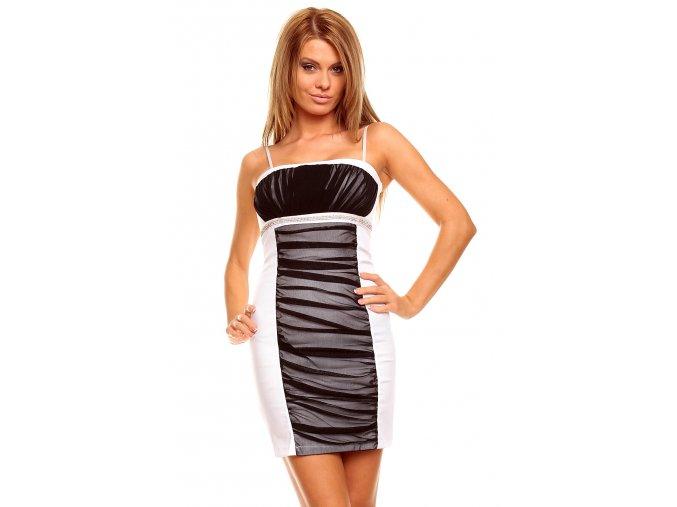 Společenské šaty Effie černo-bílé