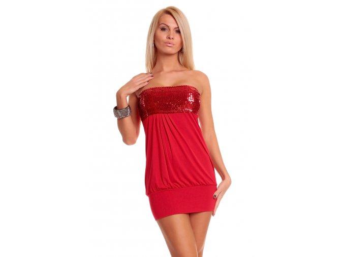 Společenské šaty Darla červené