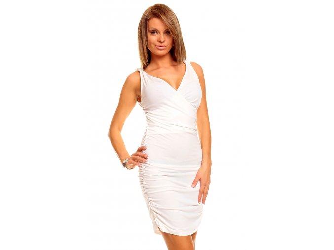 Společenské šaty Catrina bílé