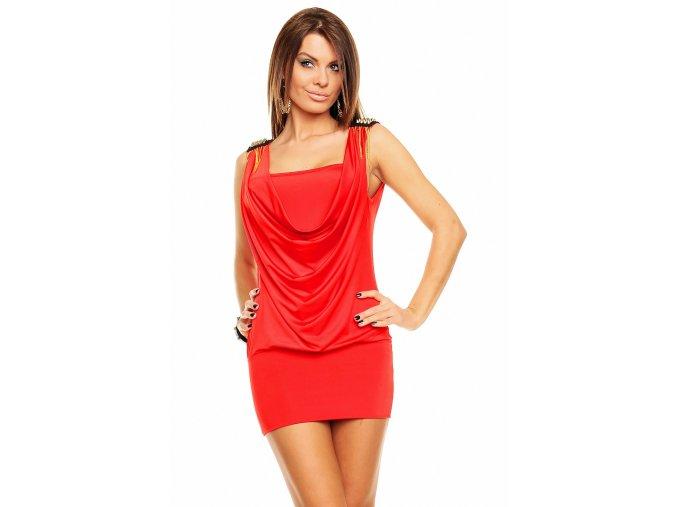 Společenské šaty Melinda červené