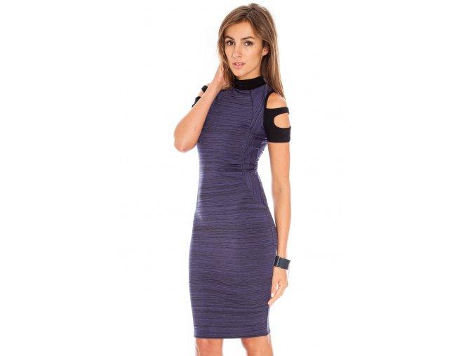 Koktejlové šaty Babette fialové