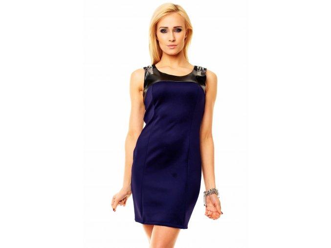 Společenské šaty Esta tmavě modré