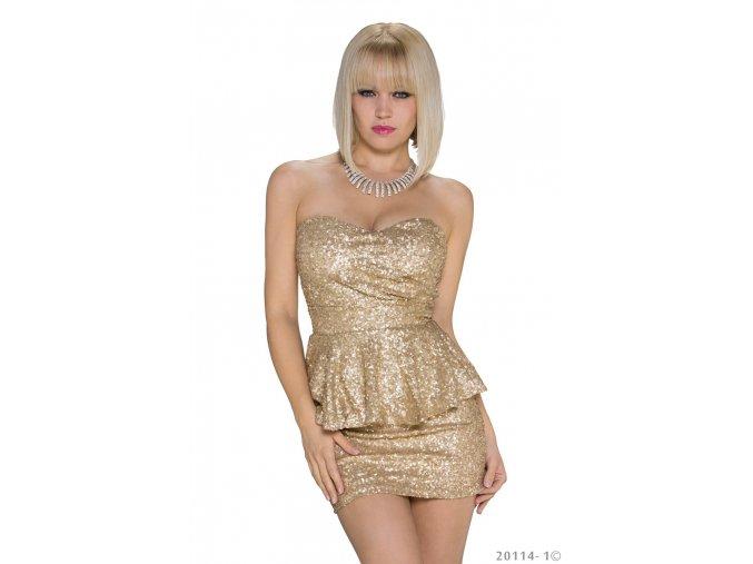 Redial společenské šaty Marisela zlaté