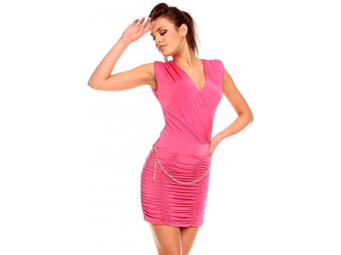 Společenské šaty June růžové