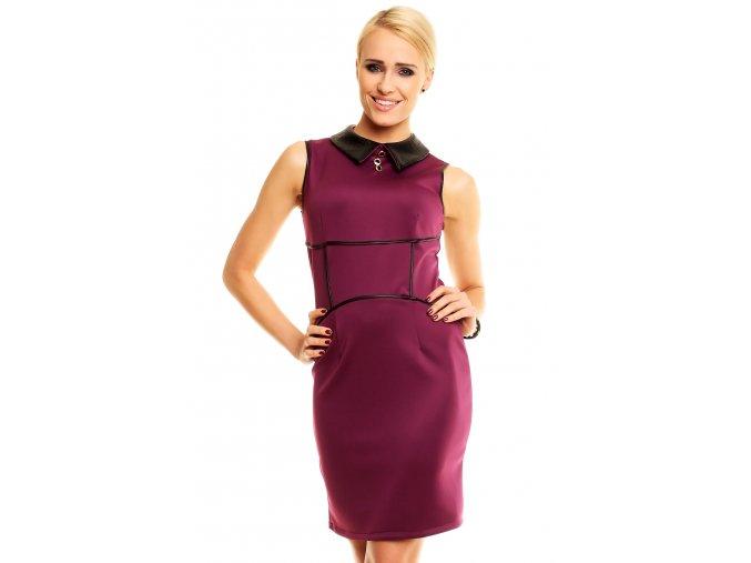 Společenské šaty Charlie fialové