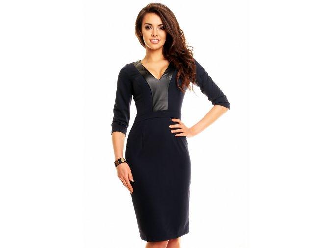 Společenské šaty Beatriz tmavě modré
