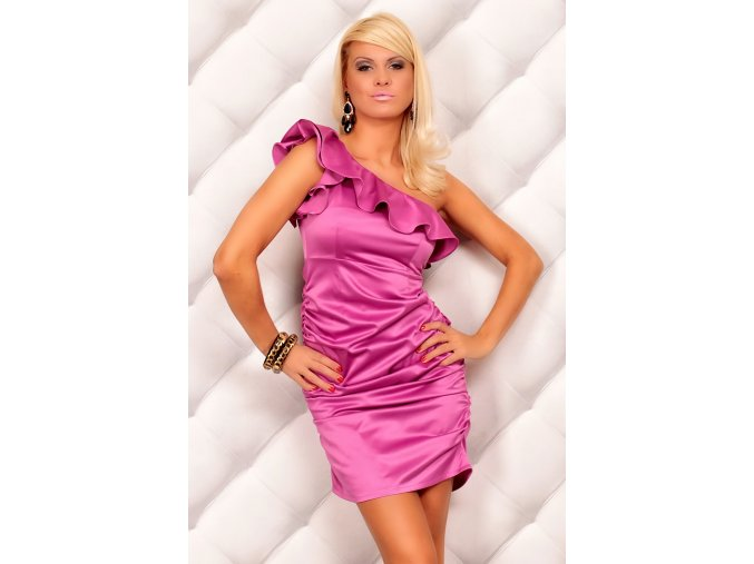 Společenské šaty Sandra fuchsiové