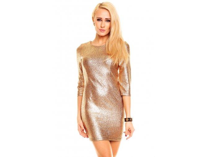 Společenské šaty Rafaela zlaté
