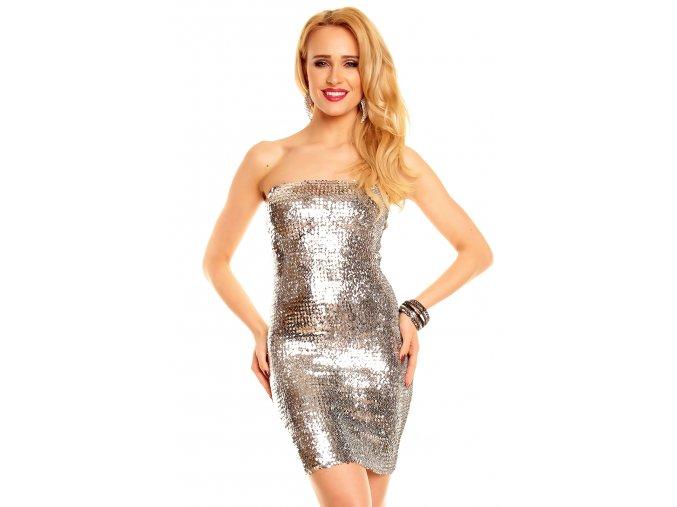 Plesové šaty Gregoria stříbrné