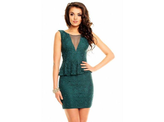 Společenské šaty Melvina tmavě zelené