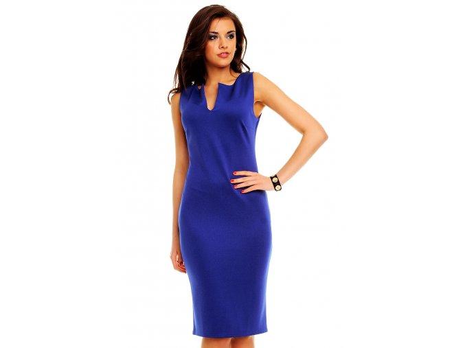 Společenské šaty Maribel modré