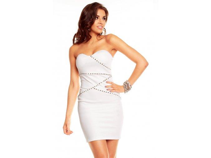 Společenské šaty Zora bílé
