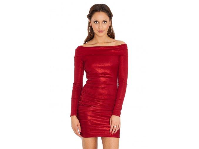 Společenské šaty Rubie vínově červené