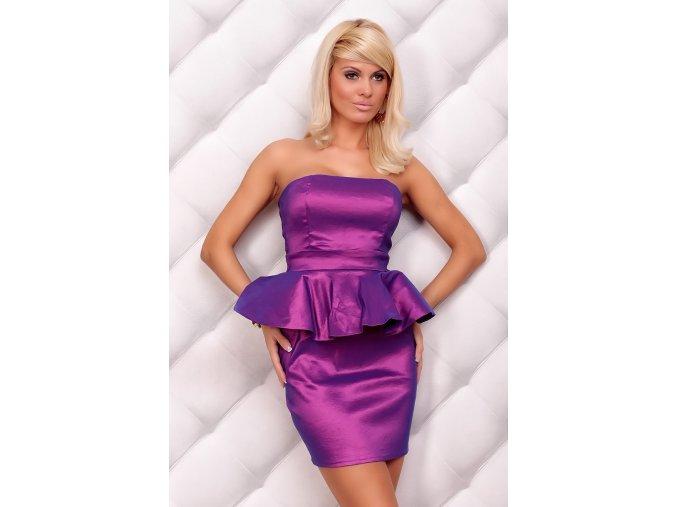 Společenské šaty Edith fialové