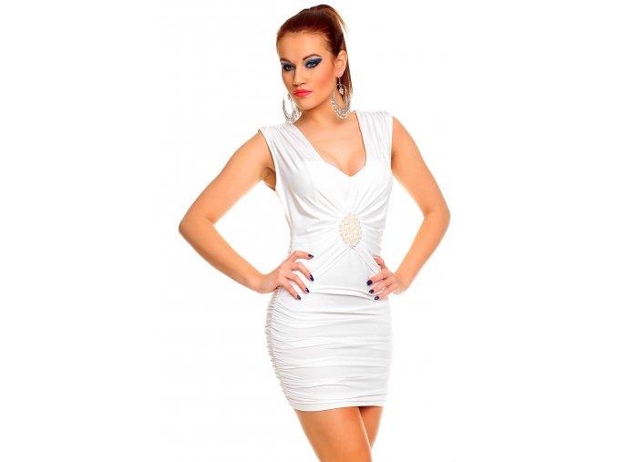 Společenské šaty Cecile bílé