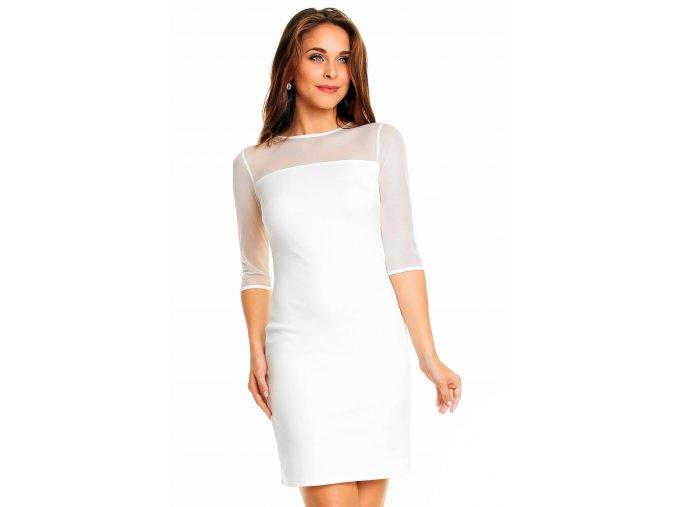Společenské šaty Mariela bílé