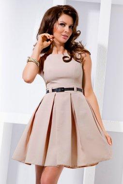 Společenské šaty Tessy II světle hnědé