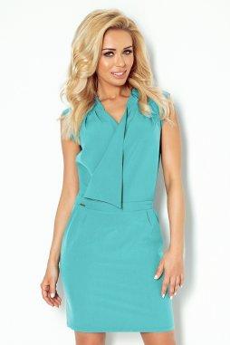 Společenské šaty Riva modrozelené