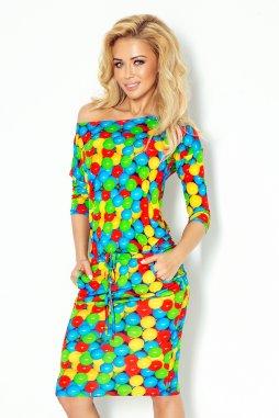 Šaty Risa vzor barevné balónky