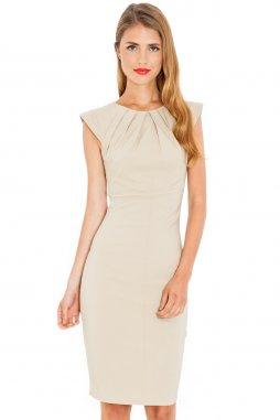 Společenské šaty Haydee béžové