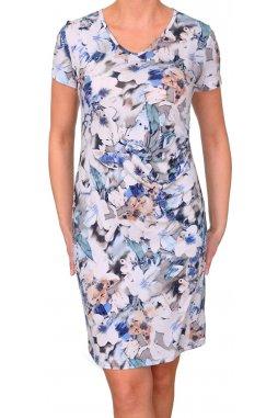 Šaty pro plnoštíhlé Diane vzor květy