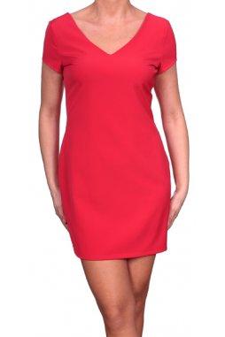 Společenské šaty pro plnoštíhlé Marel červené