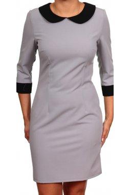Společenské šaty pro plnoštíhlé Ina šedé
