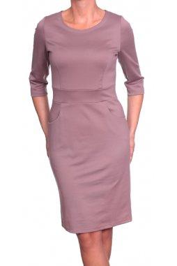 Společenské šaty pro plnoštíhlé Mildred béžové