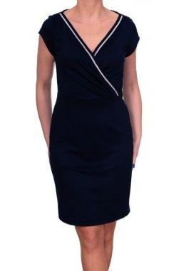 Společenské šaty pro plnoštíhlé Thalia černé