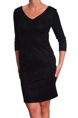 Společenské šaty pro plnoštíhlé Delma černé