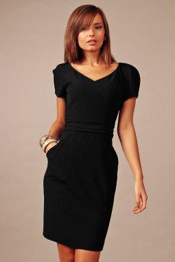 Společenské šaty pro plnoštíhlé Gina černé