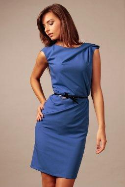 Společenské šaty pro plnoštíhlé Amada modré