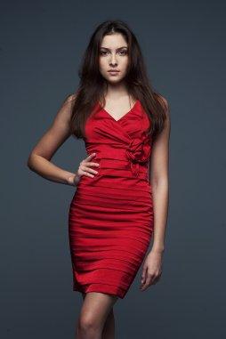 Společenské šaty Felice červené